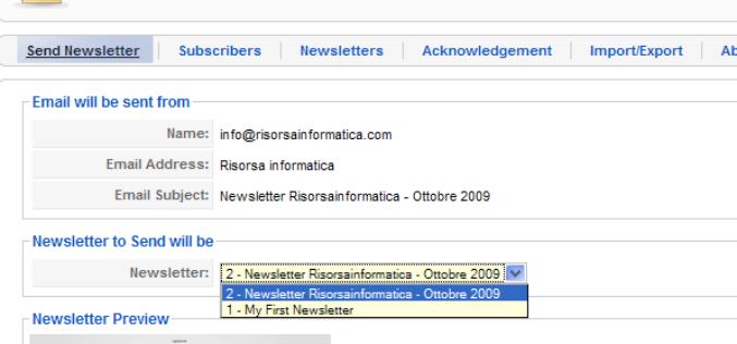 Creare una newsletter Joomla con ccnewsletter
