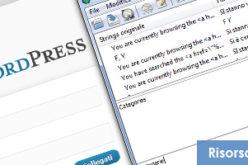 WordPress Traduzione personalizzata