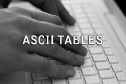 Tabella dei caratteri ASCII