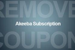 Rimuovere il codice coupon in akeeba subscriptions