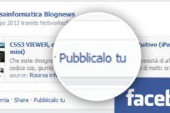 Facebook: scomparso il pulsante Condividi