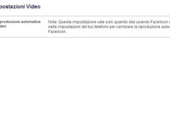 Disabilitare autoplay dei video facebook