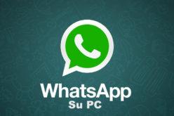 Arriva WhatsApp per PC Desktop