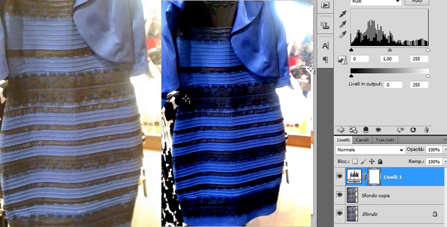 vestito-bianco-oro-blu-nero